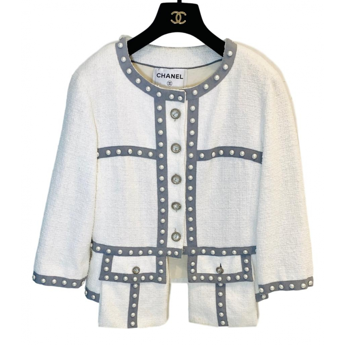 Chanel \N White Cotton jacket for Women 40 FR