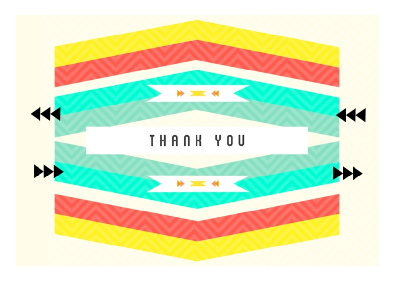 Thank You Cards Mail-for-Me Premium 5x7 Folded Card , Card & Stationery -Navajo Thank You
