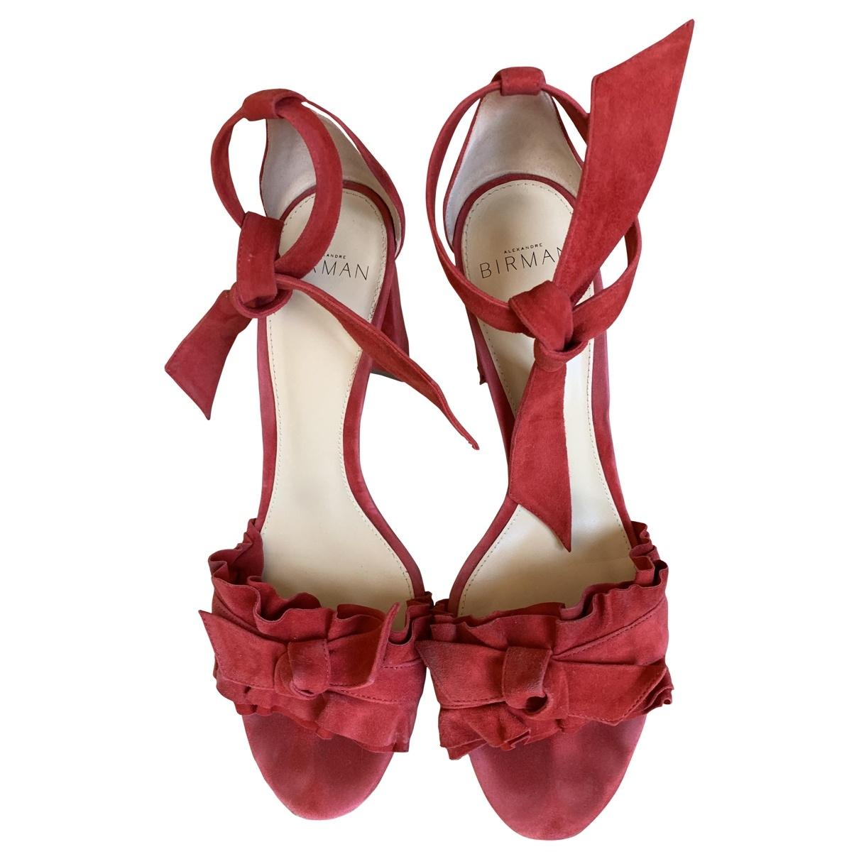 Alexandre Birman \N Red Leather Sandals for Women 38.5 EU