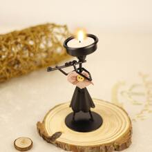 1pc Iron Figure Design Candle Holder