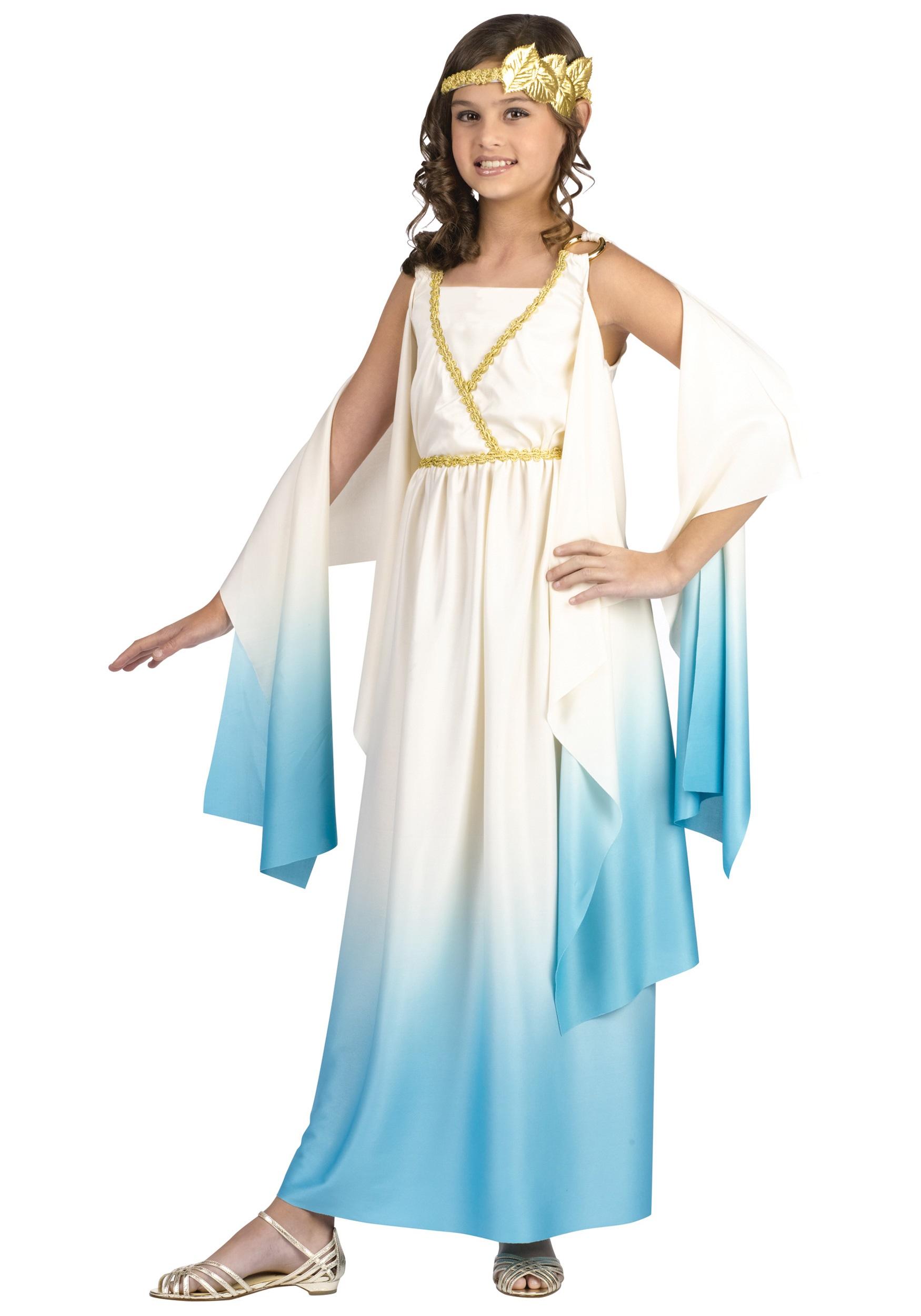 Greek Goddess Costume for Girls   Girls Decade Costumes