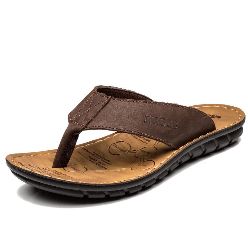 Men Clip Toe Soft Sloe Water Beach Sandals Casual Flip Flops
