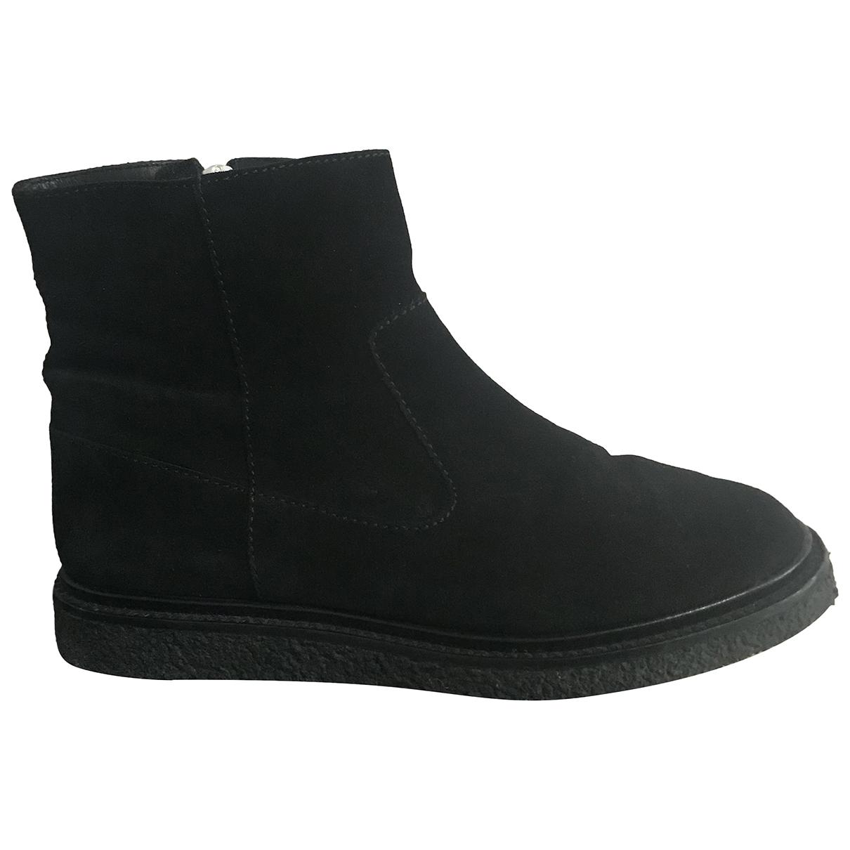 Isabel Marant - Boots   pour femme en suede - noir