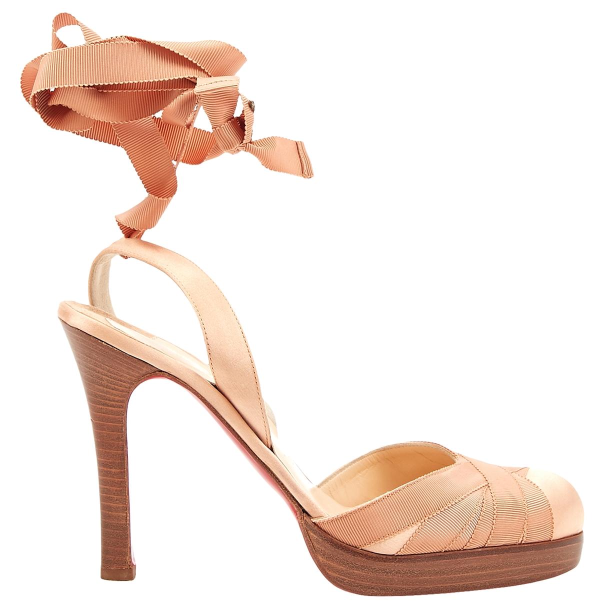 Christian Louboutin \N Pink Cloth Heels for Women 40 EU