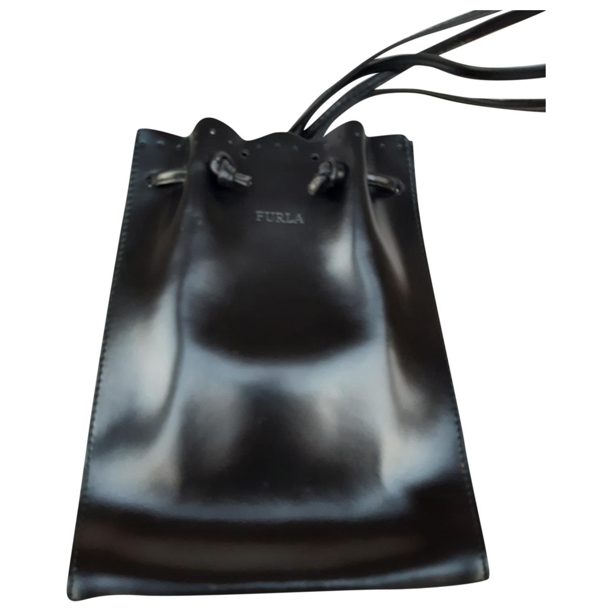 Furla \N Black Leather backpack for Women \N
