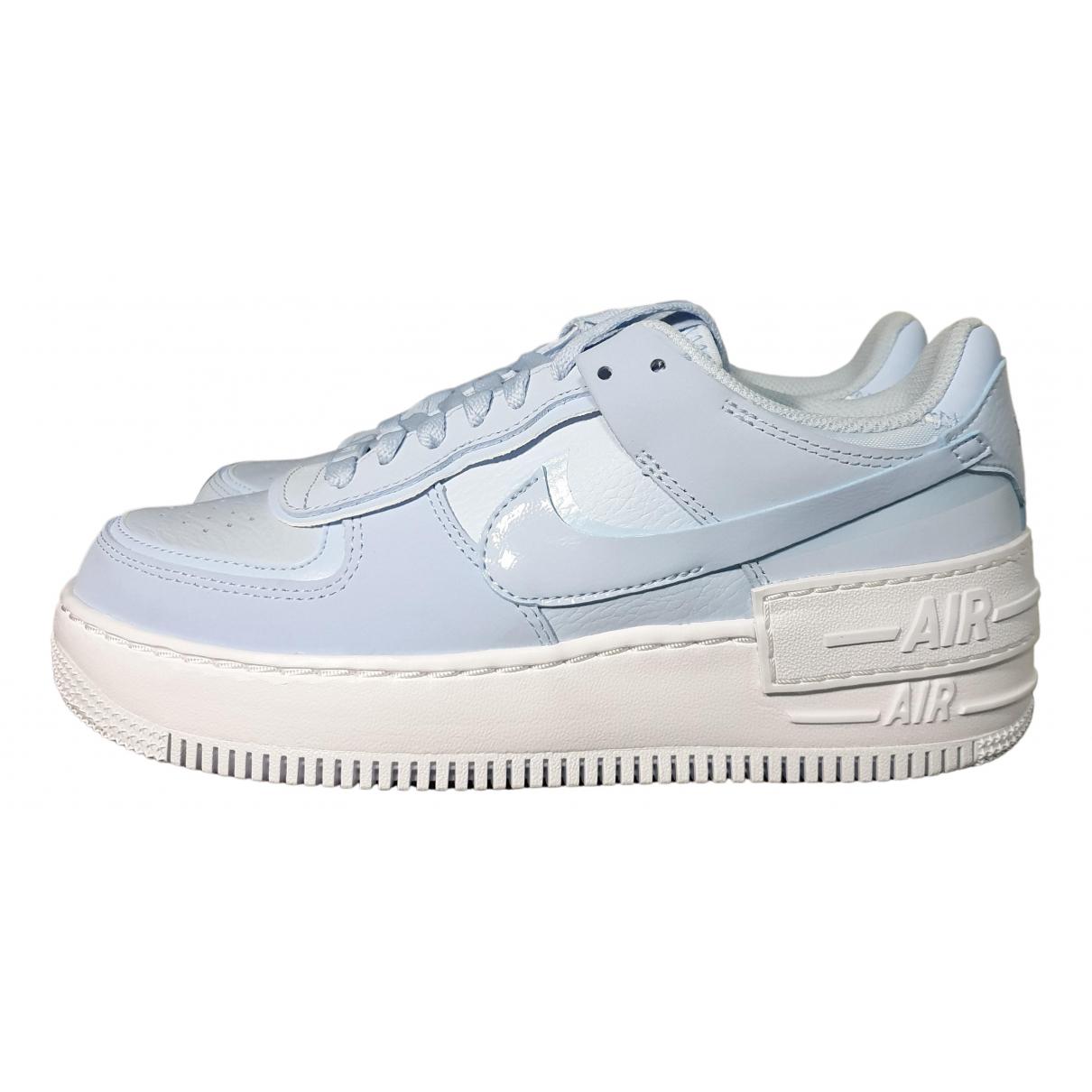 Nike - Baskets Air Force 1 pour femme en cuir - bleu