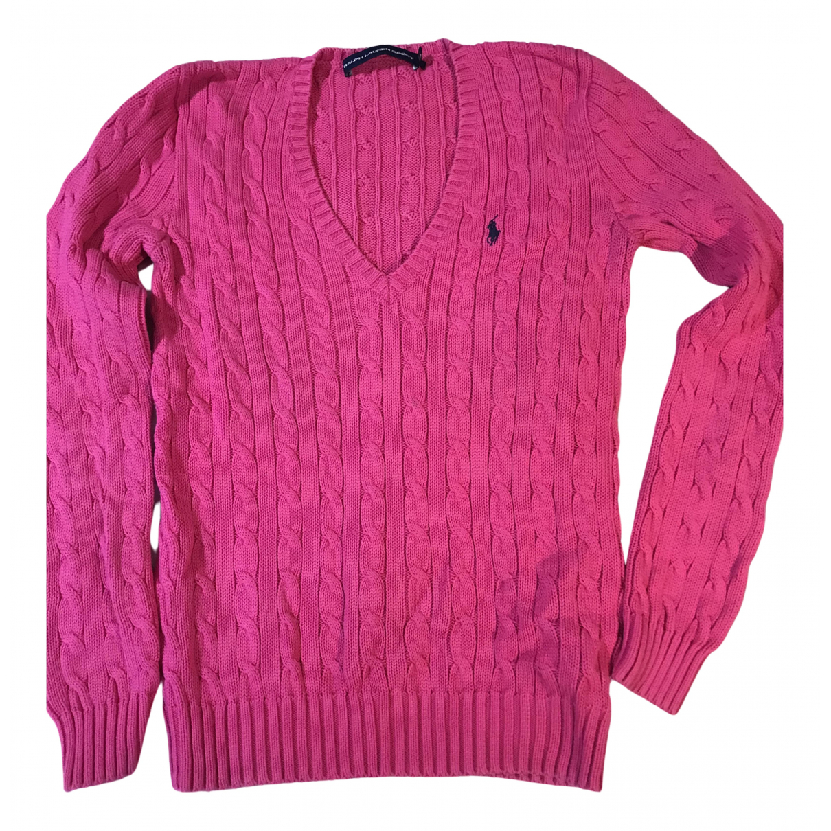 Non Signe / Unsigned \N Pullover in  Rosa Baumwolle