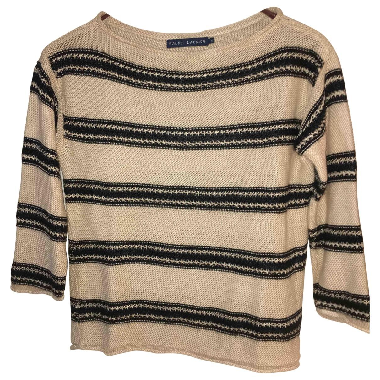 Ralph Lauren \N Pullover in  Ecru Seide