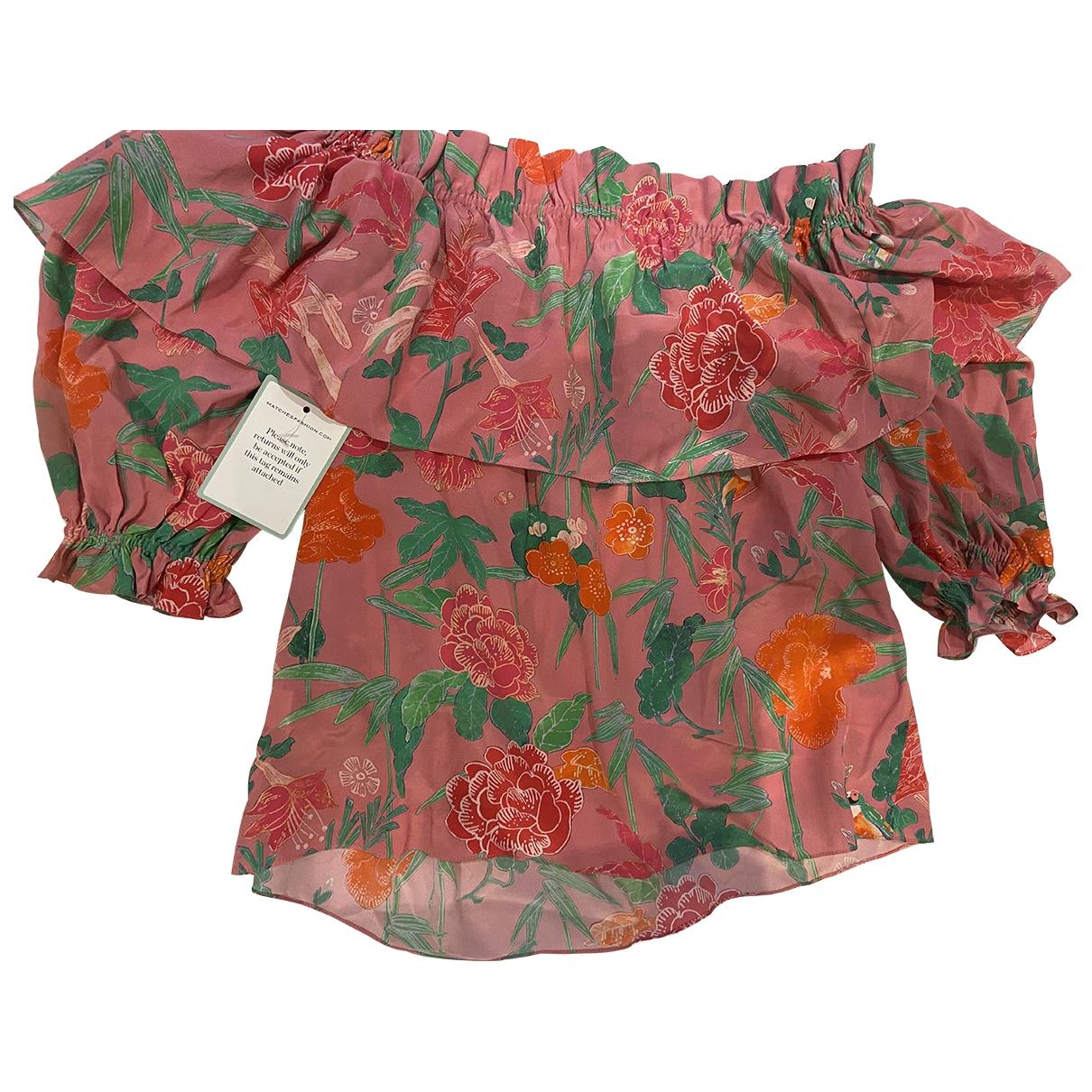 Beulah London - Top   pour femme en soie - rose