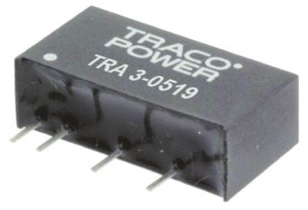 TRACOPOWER TRA 3 3W Isolated DC-DC Converter Through Hole, Voltage in 4.5 → 5.5 V dc, Voltage out 5V dc