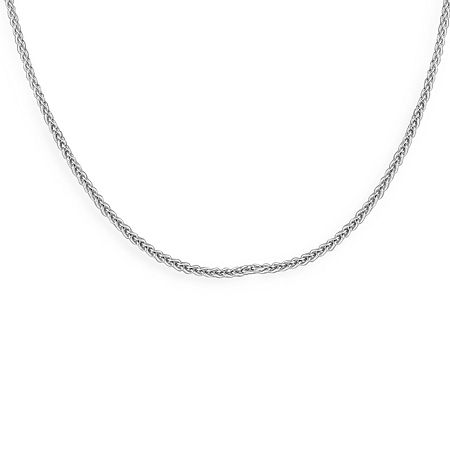 Made in Italy Sterling Silver Solid Wheat Chain Necklace, One Size , No Color Family