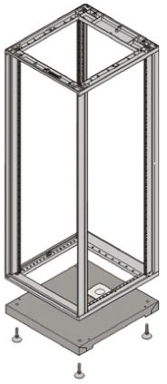 nVent – Schroff 45 x 553 x 600mm Plinth for use with NOVASTAR Cabinet, Grey