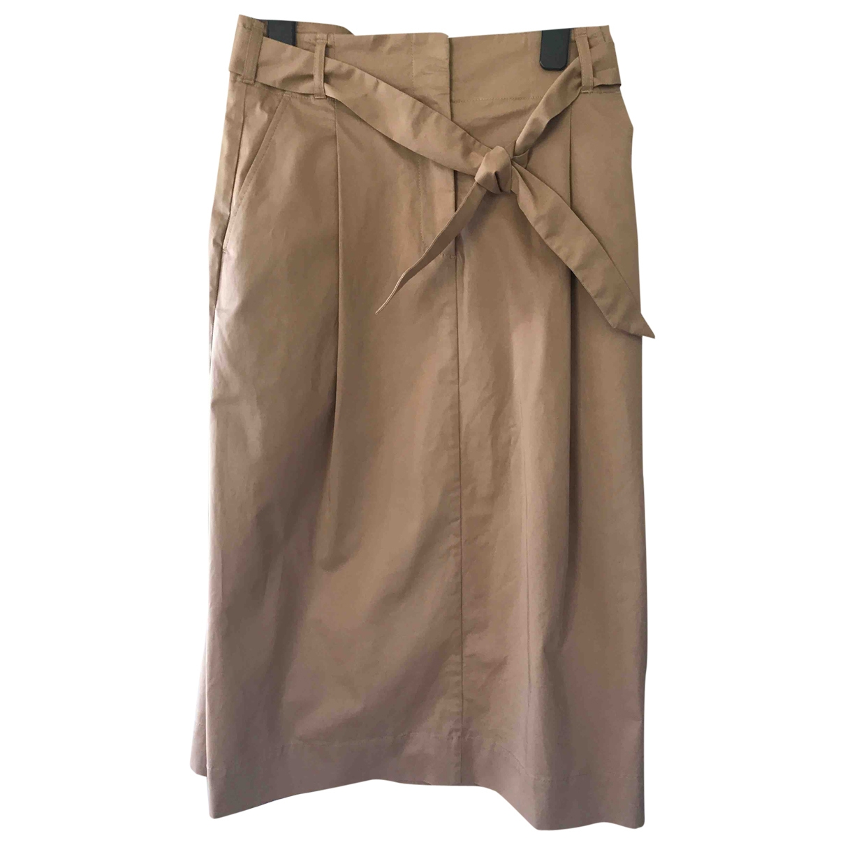 Ymc \N Beige Cotton skirt for Women 10 UK