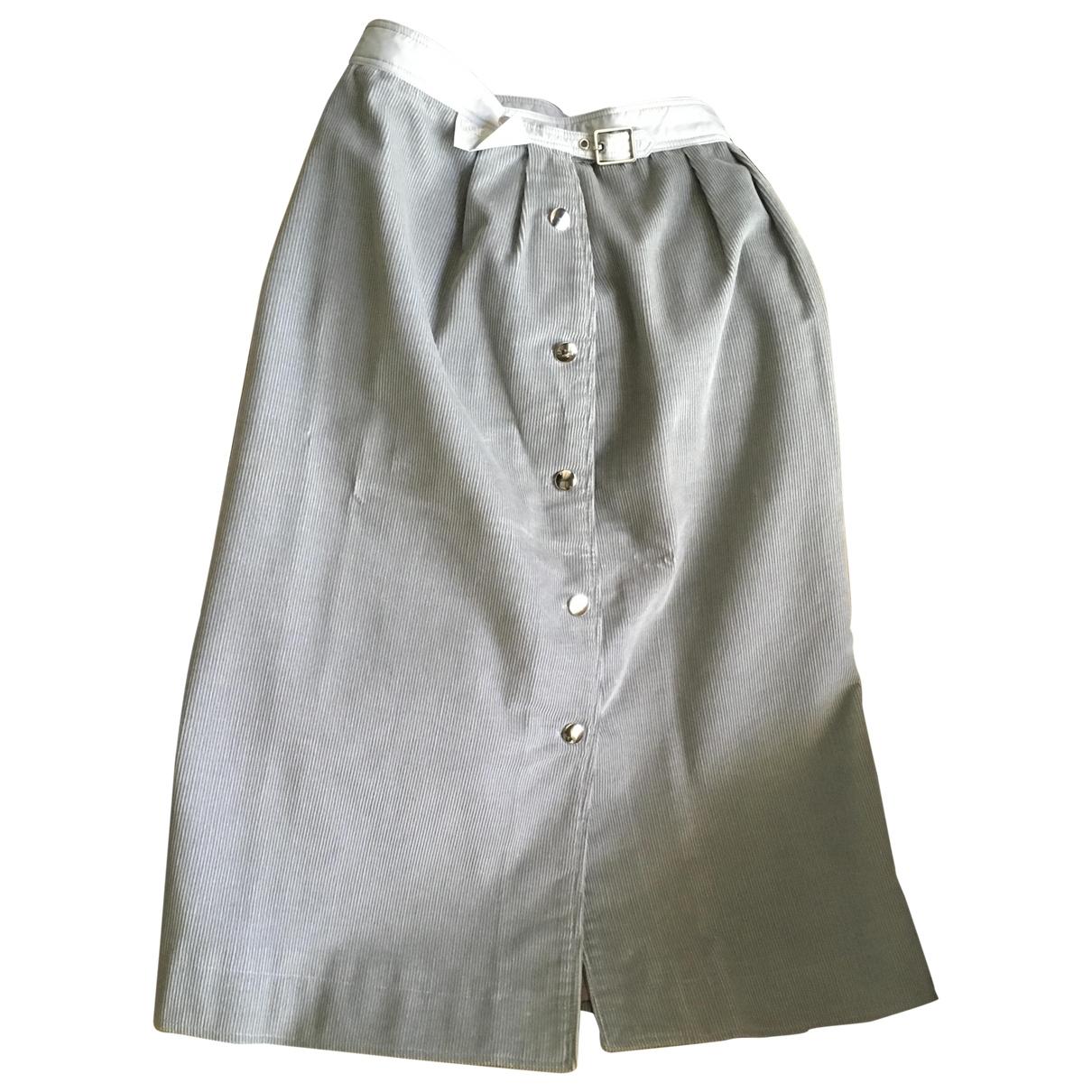 Courrèges \N Green Cotton skirt for Women 00 0-5
