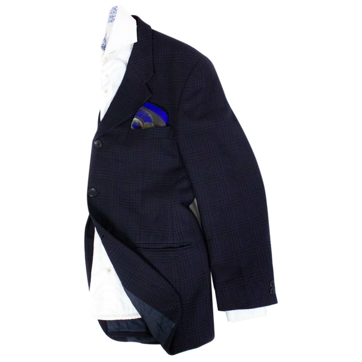 Kenzo - Costumes   pour homme en laine - bleu