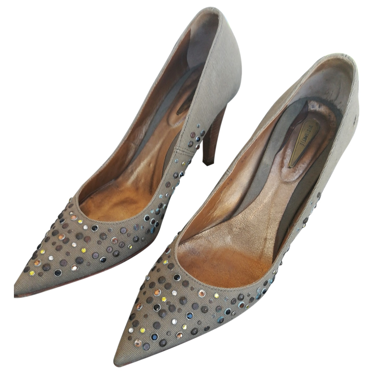 Vic Matié \N Khaki Glitter Heels for Women 38 EU