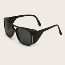 Gafas de sol de hombres de marco cuadrado con barra superior