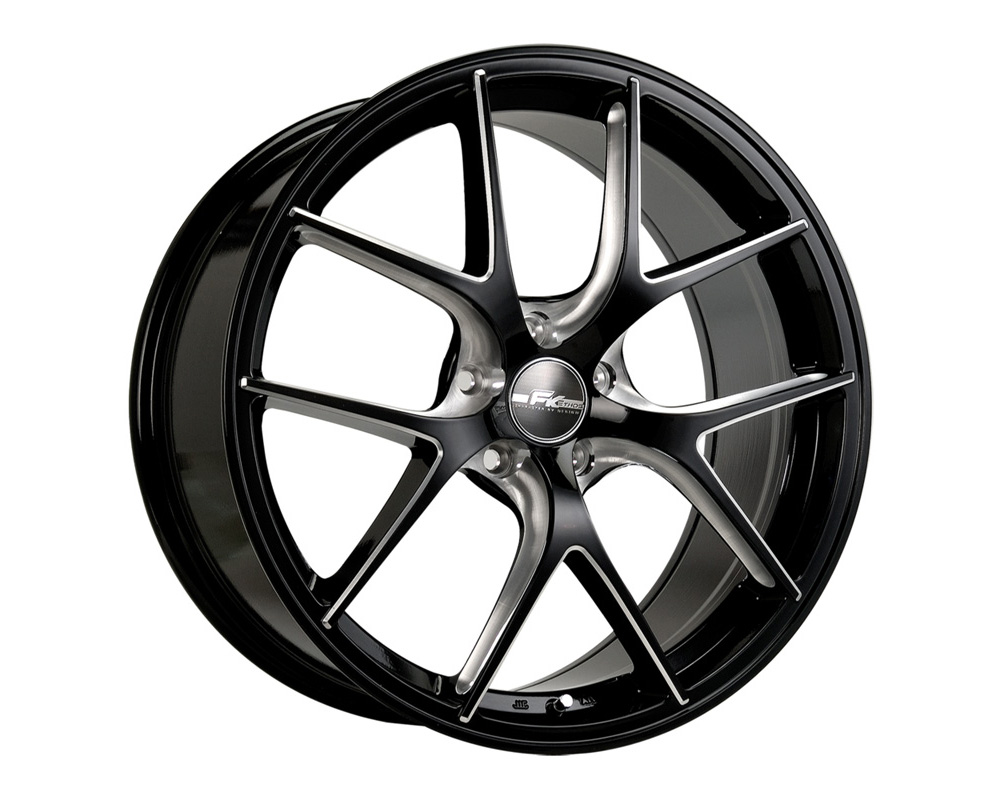 FK Ethos RT572060001 RT-57 Gloss Black Ball Cut Machined Wheel 20x8.5 5x114.3 40