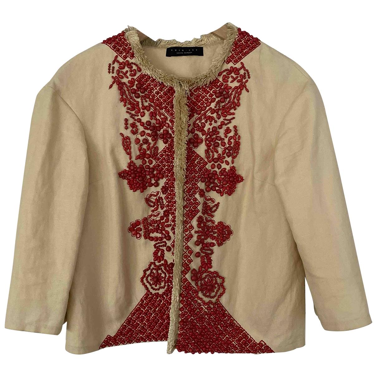 Twin Set \N Beige Linen jacket for Women S International