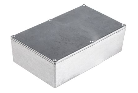 RS PRO Clear Die Cast Aluminium Enclosure, IP54, Shielded, 187.4 x 119.2 x 56.2mm