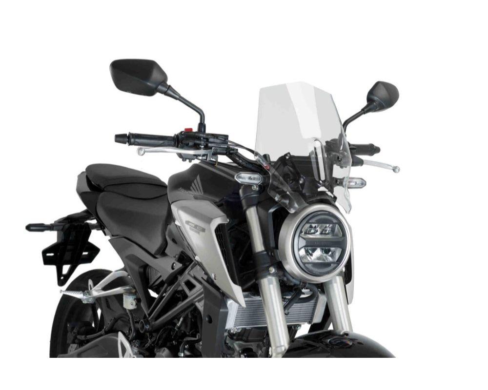 Puig 9734W Naked New Gen Sport Windscreen - Clear Honda CB125R Neo Sports Cafe 2018