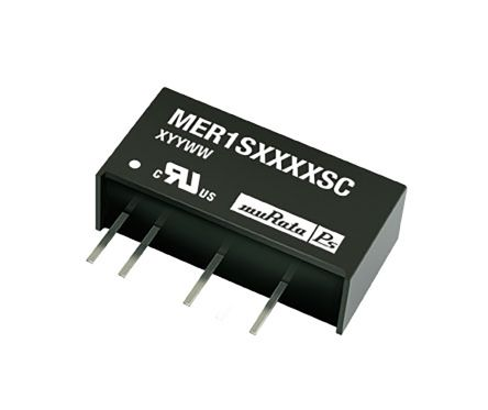 Murata Power Solutions MER1 1W Isolated DC-DC Converter Through Hole, Voltage in 4.5 → 5.5 V dc, Voltage out 15V