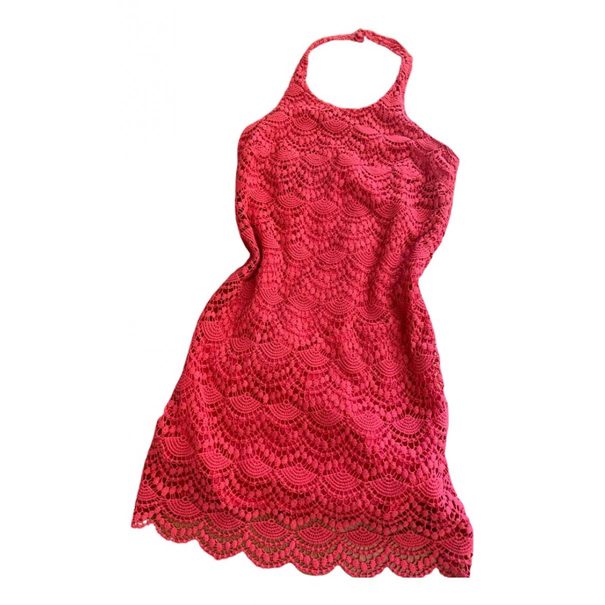 Guess \N Kleid in  Rosa Baumwolle