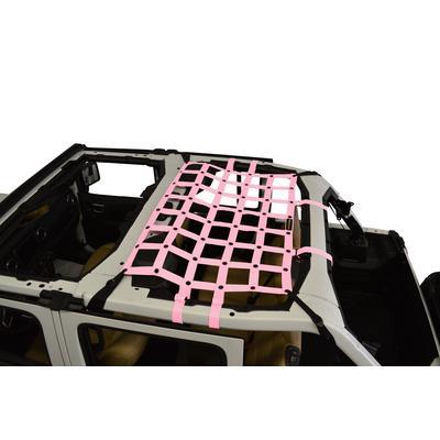 DirtyDog 4x4 Rear Seat Netting (Pink) - JL4N18M1PK