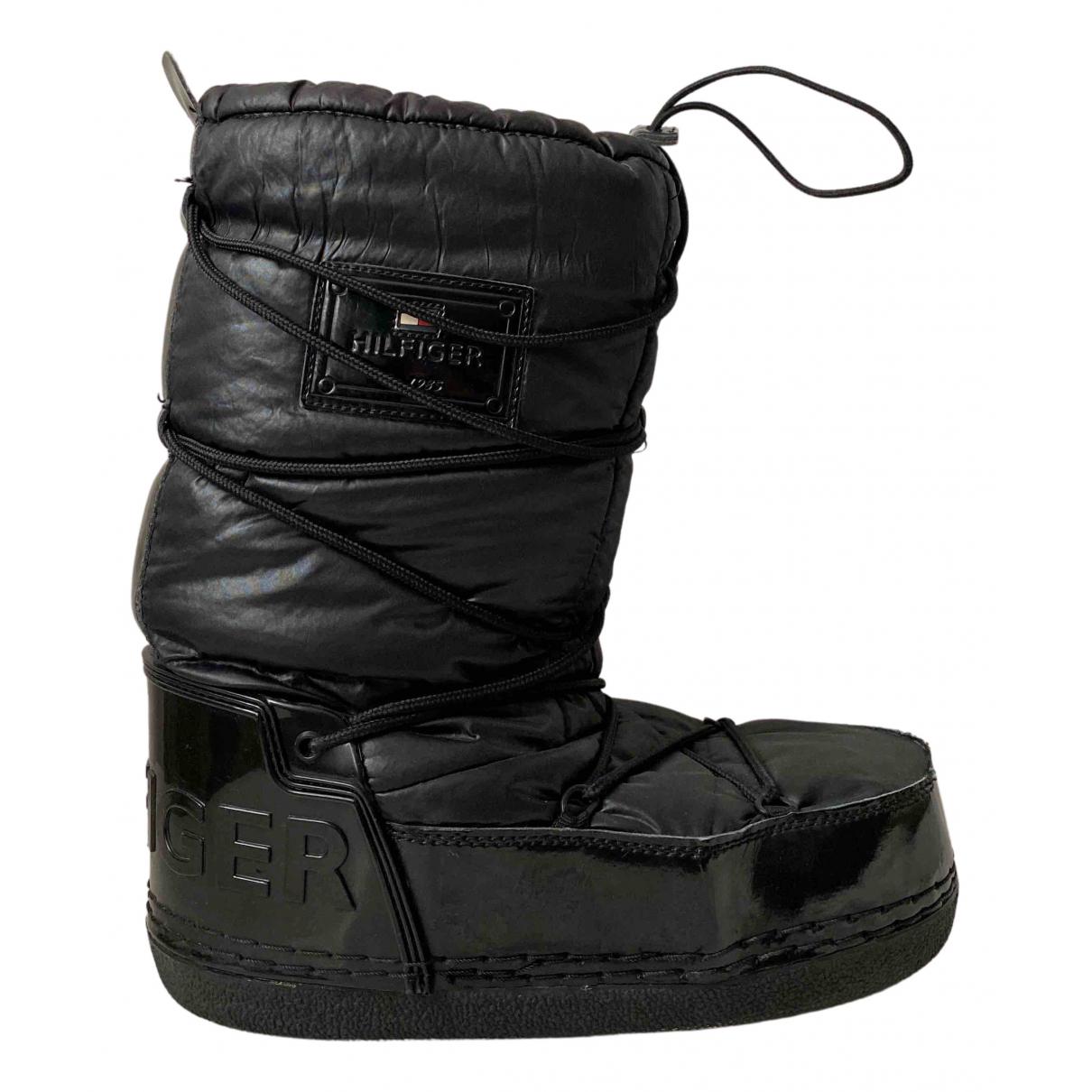 Tommy Hilfiger \N Stiefel in  Schwarz Kunststoff