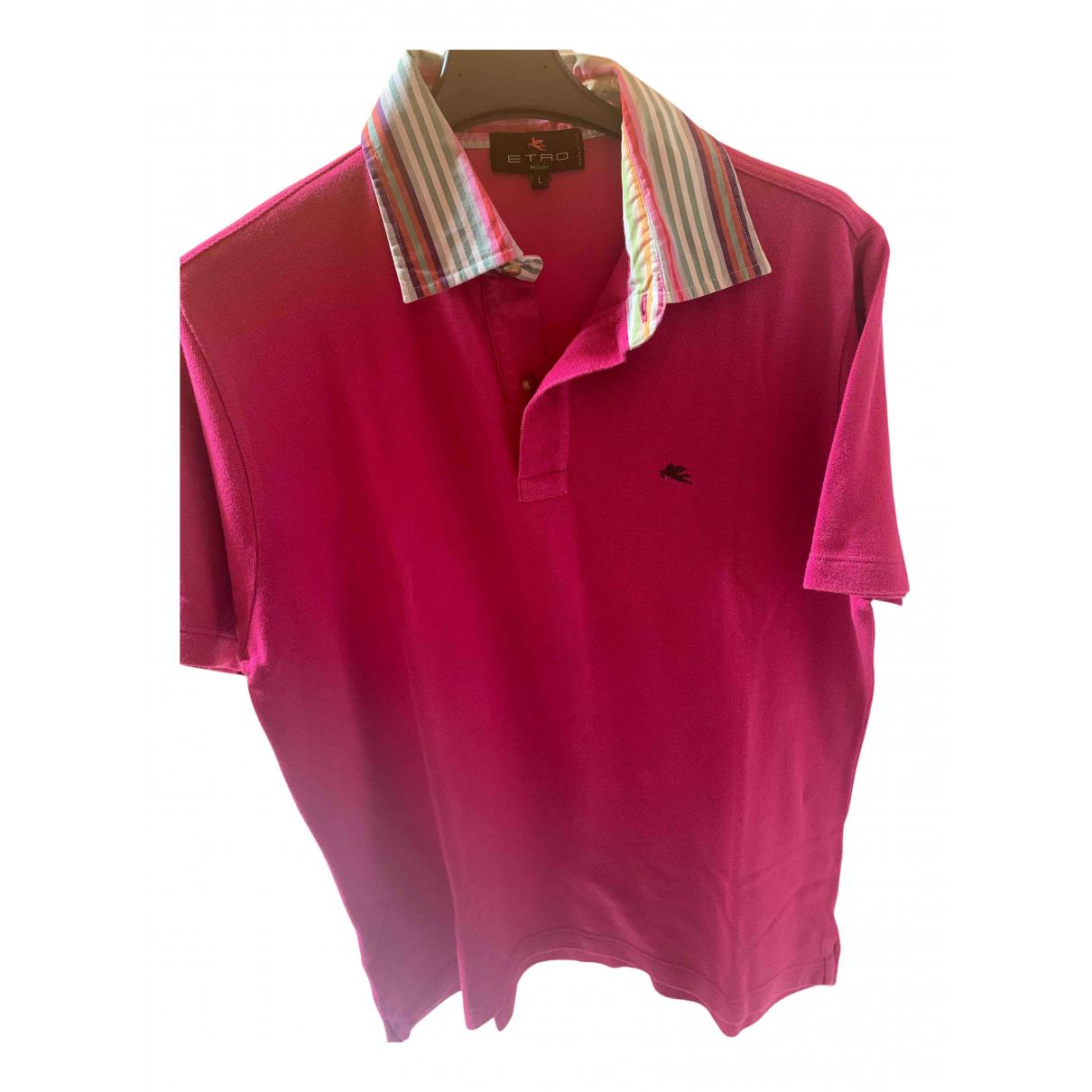Etro - Polos   pour homme en coton - rose