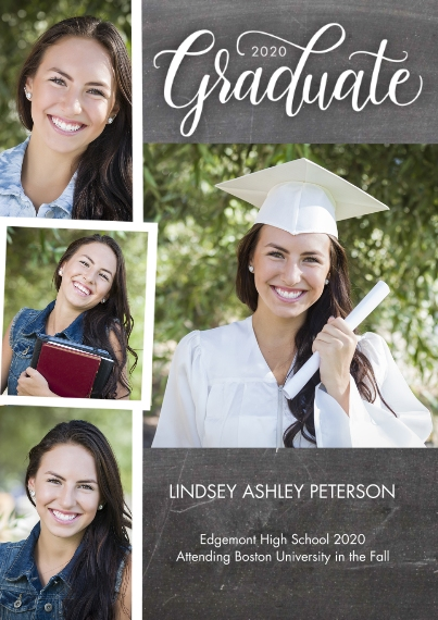 2020 Graduation Announcements 5x7 Cards, Premium Cardstock 120lb with Rounded Corners, Card & Stationery -Graduate 2020 Rustic by Tumbalina