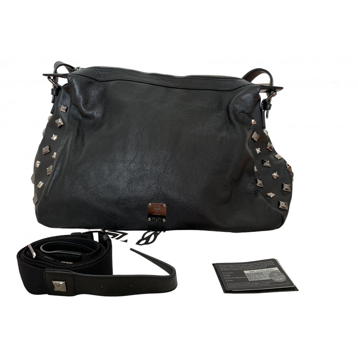 Mcm \N Reisetasche in  Schwarz Leder