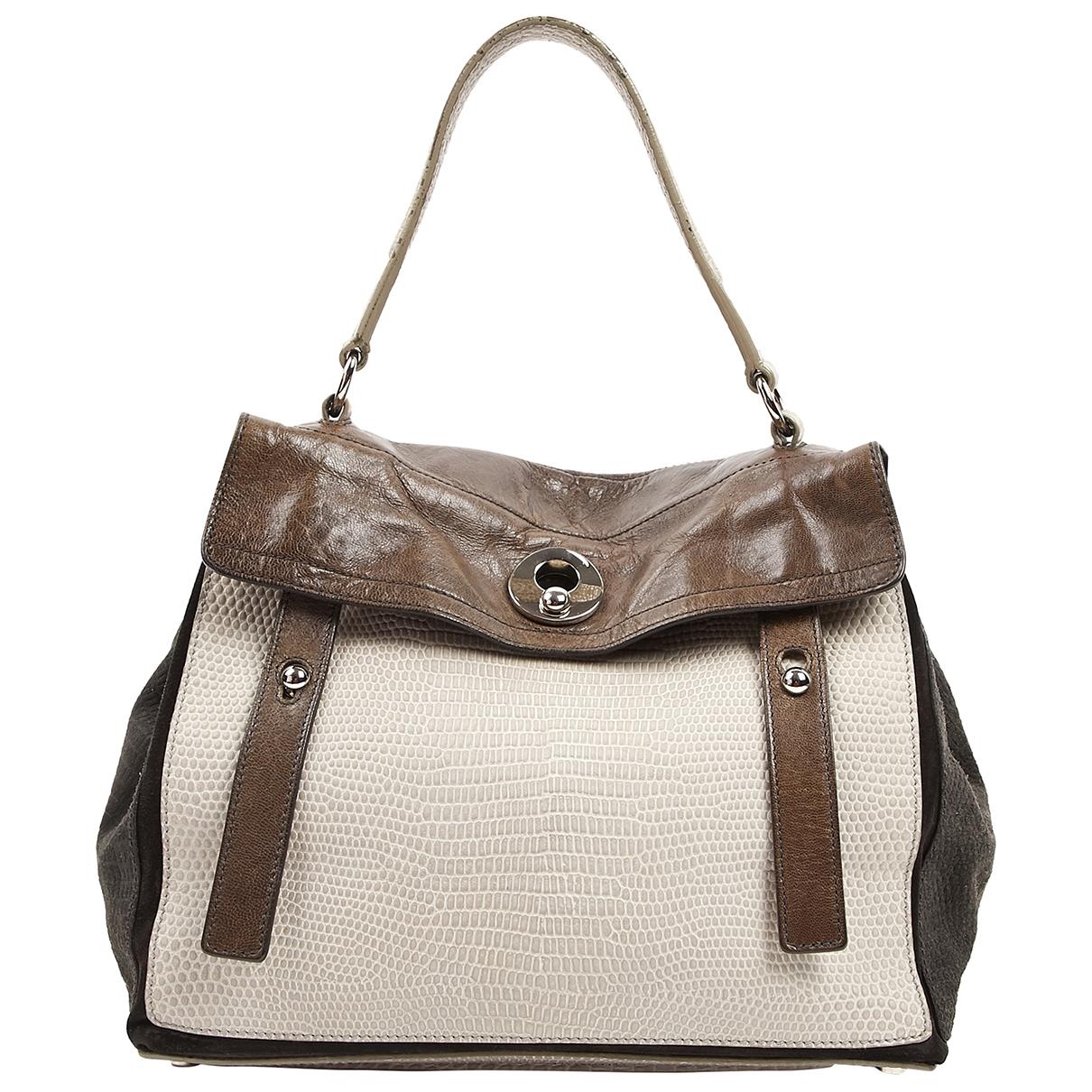 Yves Saint Laurent Muse Two Handtasche in  Braun Leder
