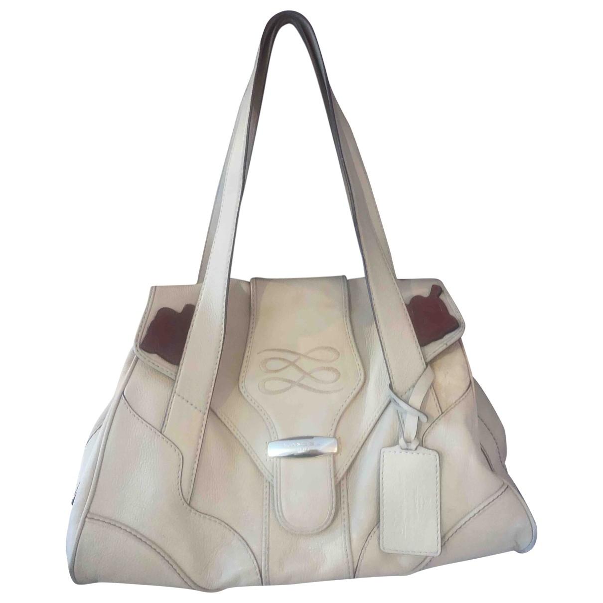 Lancel \N Ecru Leather handbag for Women \N