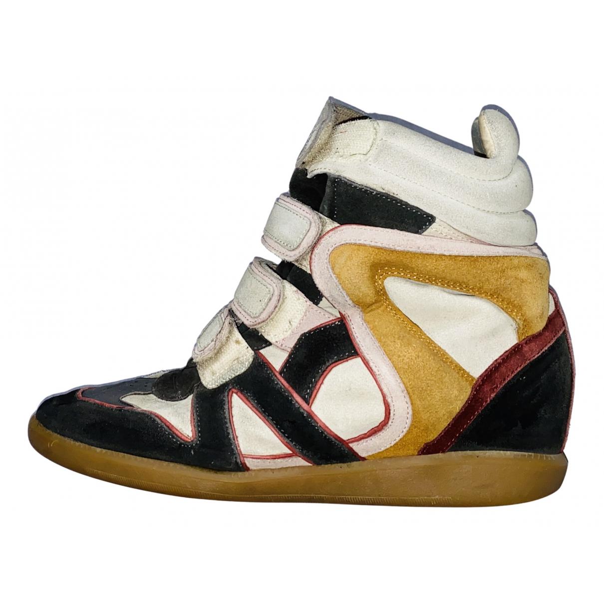 Isabel Marant Beckett Sneakers in  Bunt Veloursleder