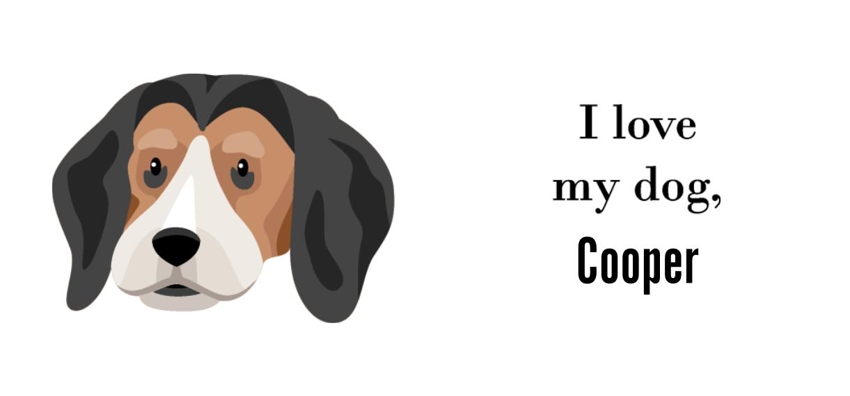 Pets + Animals 11oz Hidden Picture Mug, Gift -Beagle