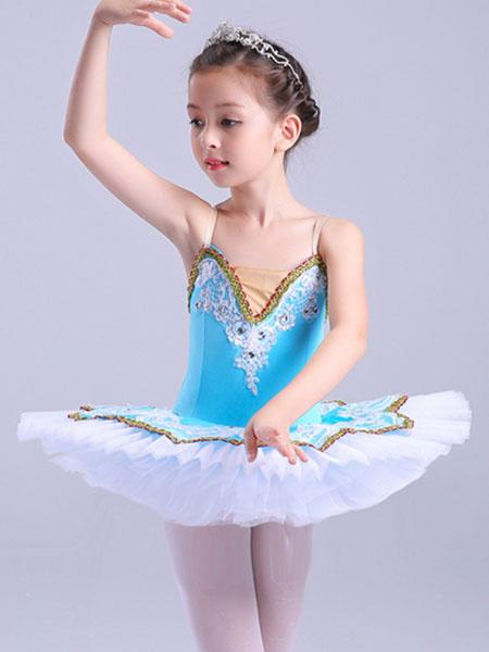 Milanoo Ballerina Dress Gilrs Latin Dance Costume Kids Training Tutu Dancing Dresses