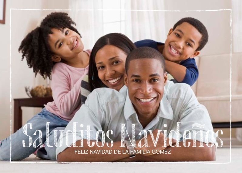 Tarjetas de Navidad Flat Glossy Photo Paper Cards with Envelopes, 5x7, Card & Stationery -A Little Christmas Cheer