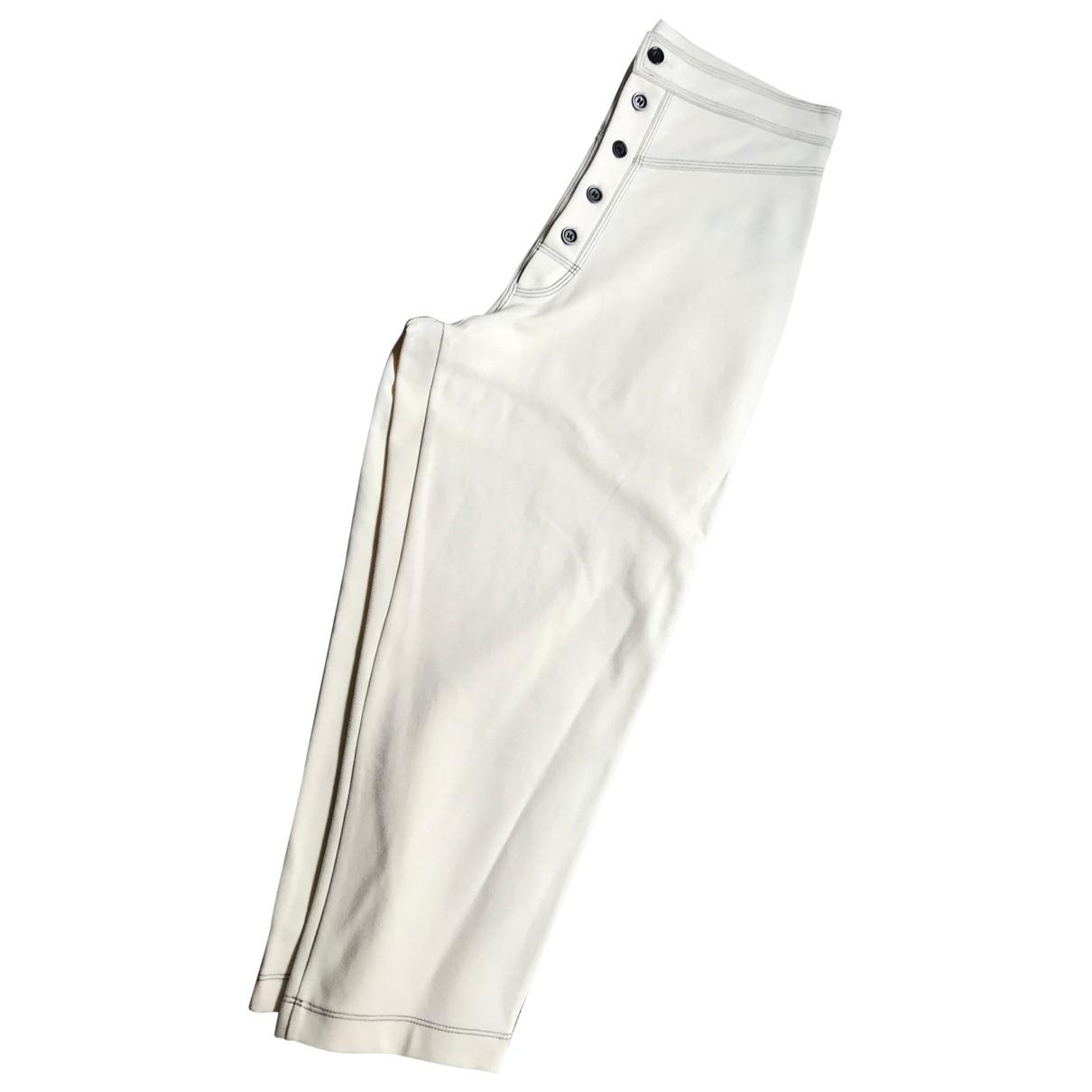 Zara N Ecru Cotton Trousers for Women M International