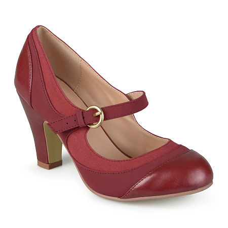 Journee Collection Womens Siri Mary Jane Pumps, 8 Medium, Red