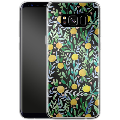 Samsung Galaxy S8 Silikon Handyhuelle - Bright Blossoms von Iisa Monttinen