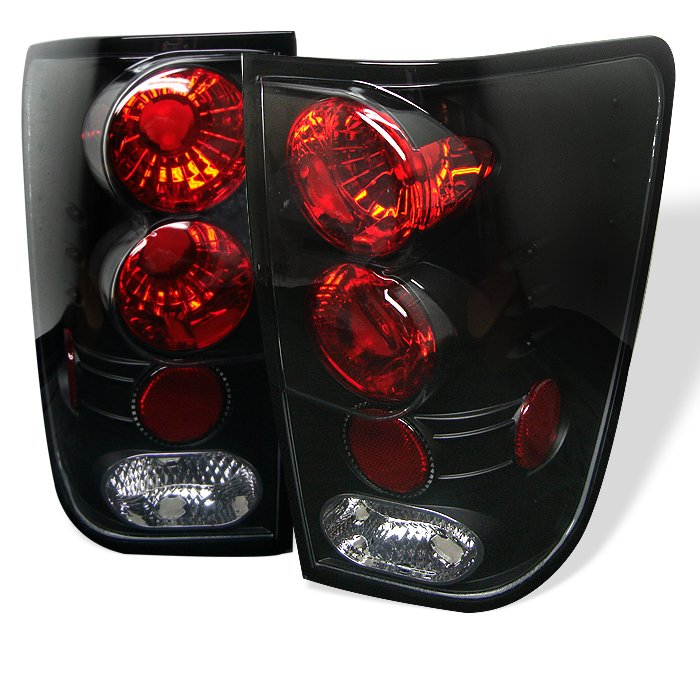 Spyder Altezza Black Tail Lights Nissan Titan 04-11