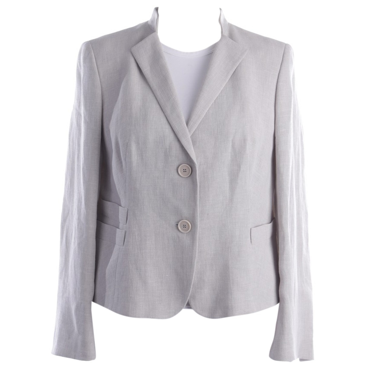 Akris N Grey Linen jacket for Women 46 FR