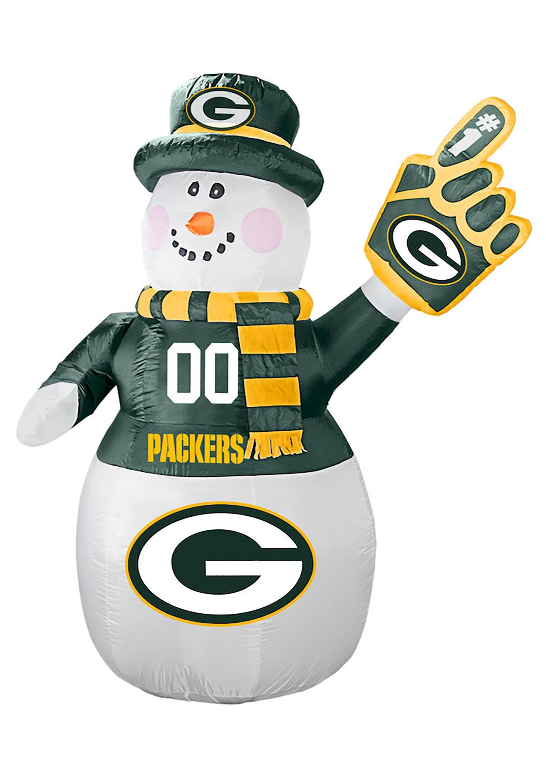 Inflatable Green Bay Packers Snowman