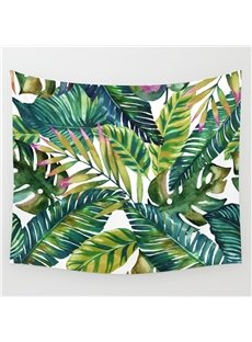 59L*51W Green Leaves Fresh Style Wall Tapestries