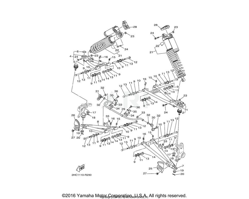 Yamaha OEM 90171-14005-00 NUT, CASTLE