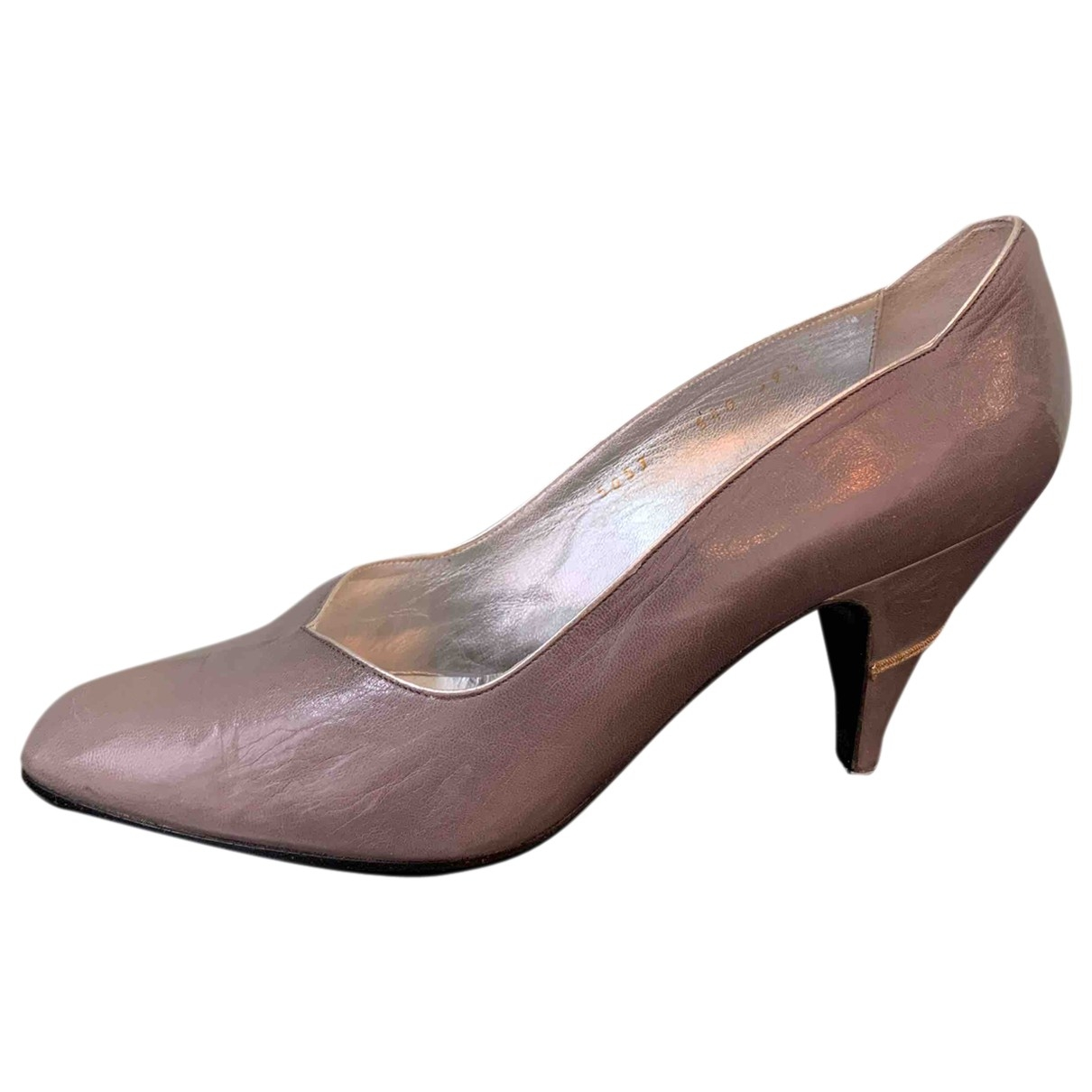Non Signé / Unsigned \N Grey Leather Heels for Women 39.5 EU