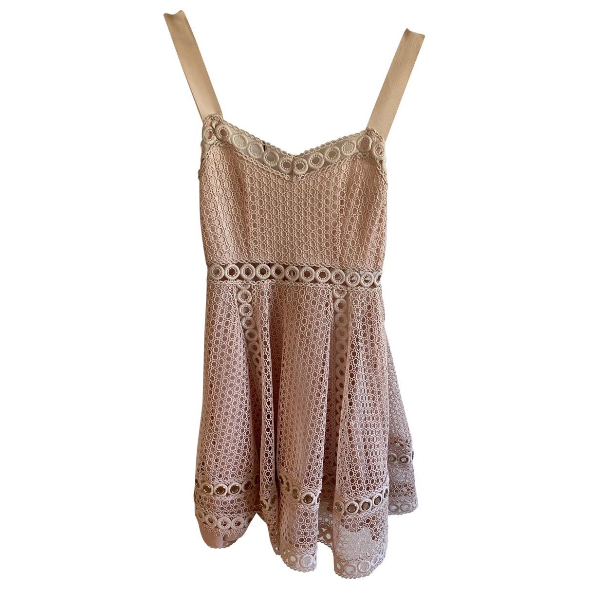 Maje \N Kleid in  Rosa Polyester