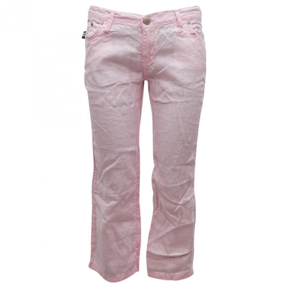 Rock & Republic De Victoria Beckham - Pantalon   pour femme en coton - rose