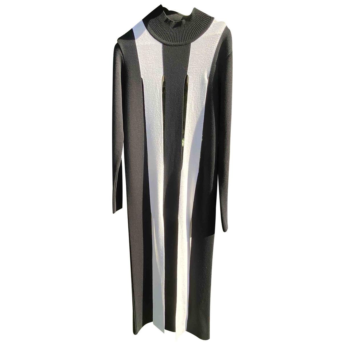 Marques Almeida \N Kleid in  Schwarz Wolle